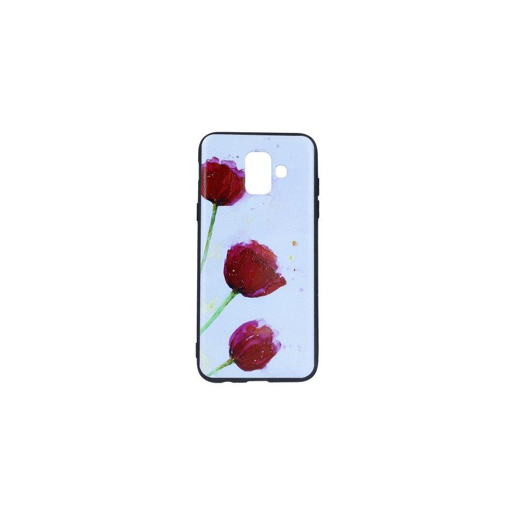 Zadný silikónový kryt na Samsung A6 Poppy