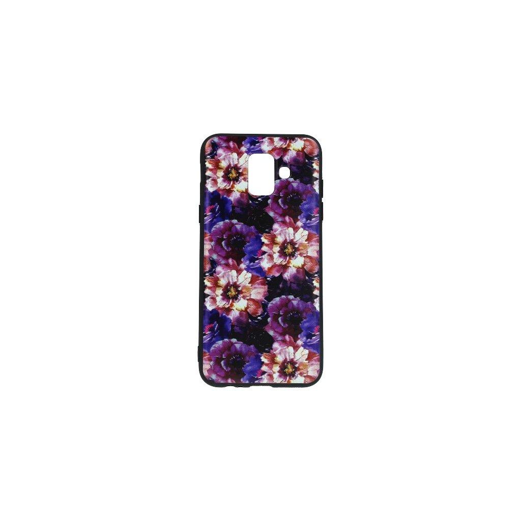 Zadný silikónový kryt na Samsung A6 Flowers Obsession