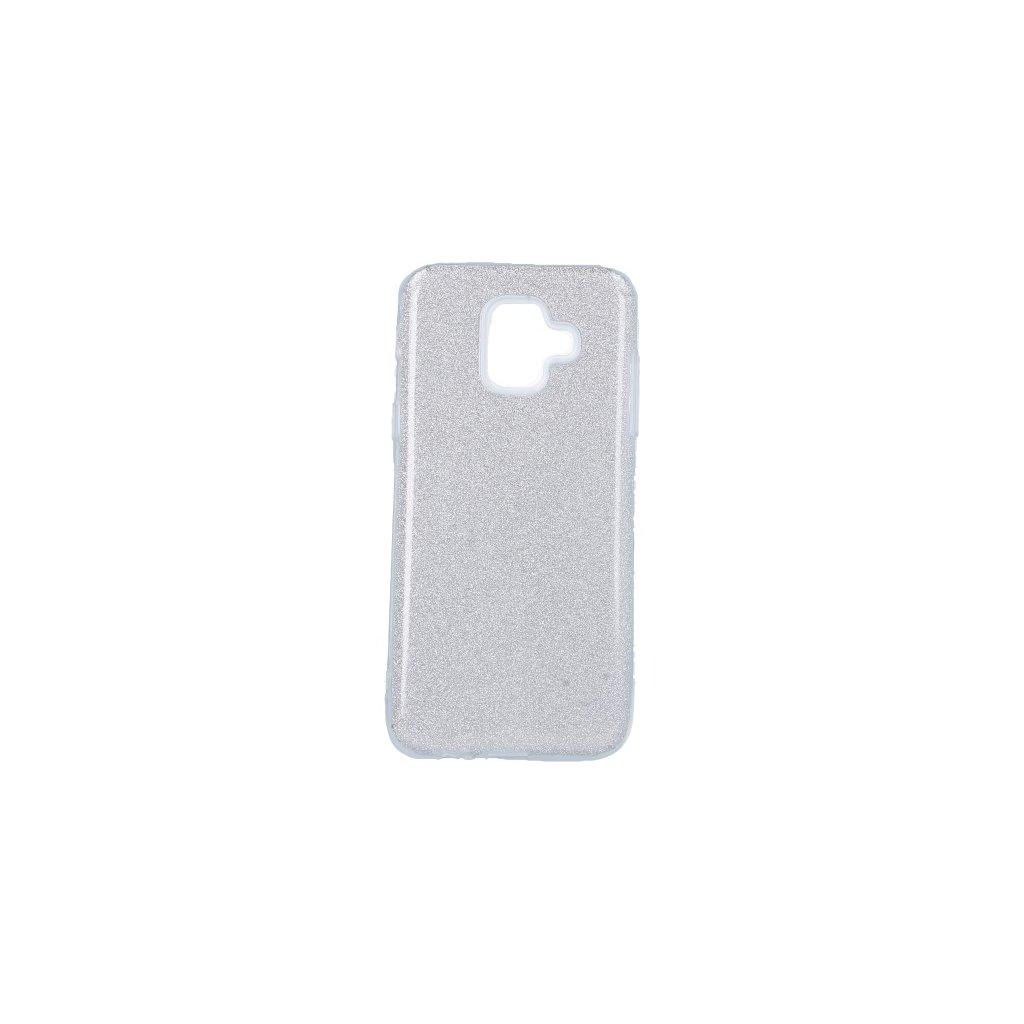 Zadný pevný kryt Forcell na Samsung A6 glitter strieborný