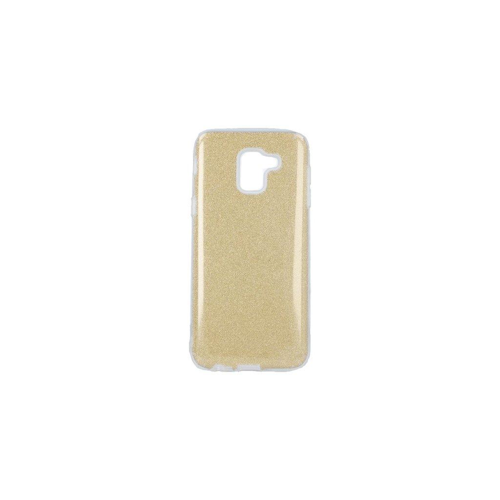 Zadný pevný kryt Forcell na Samsung J6 glitter zlatý