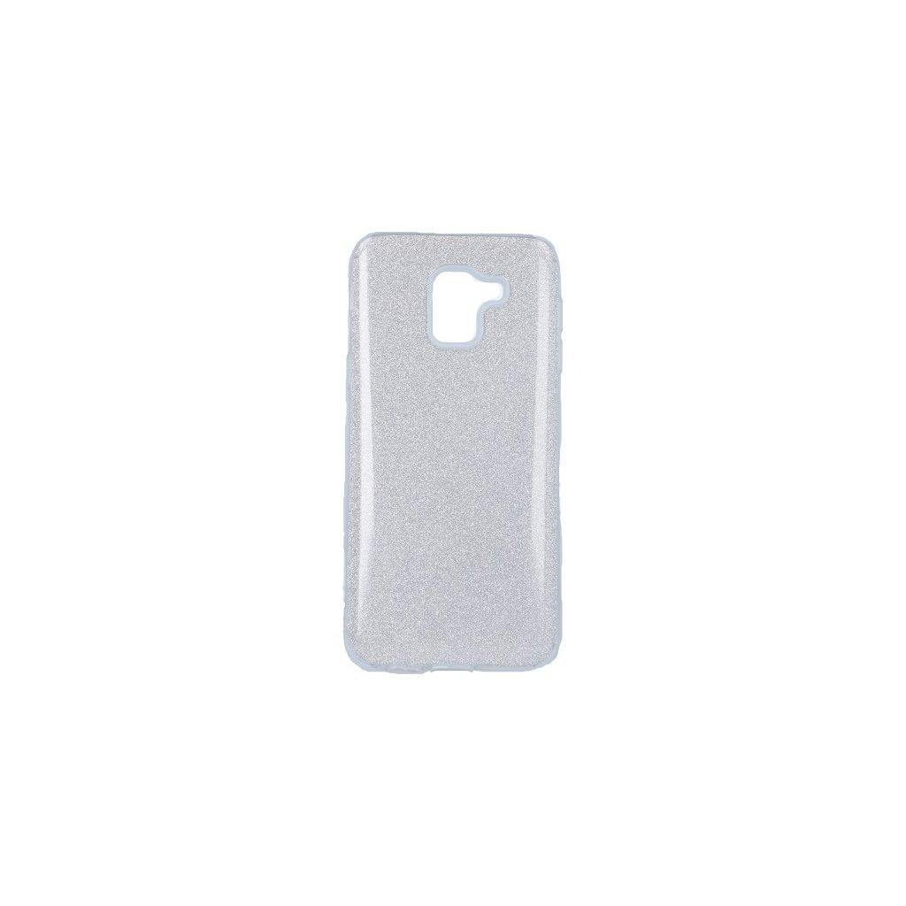 Zadný pevný kryt Forcell na Samsung J6 glitter strieborný