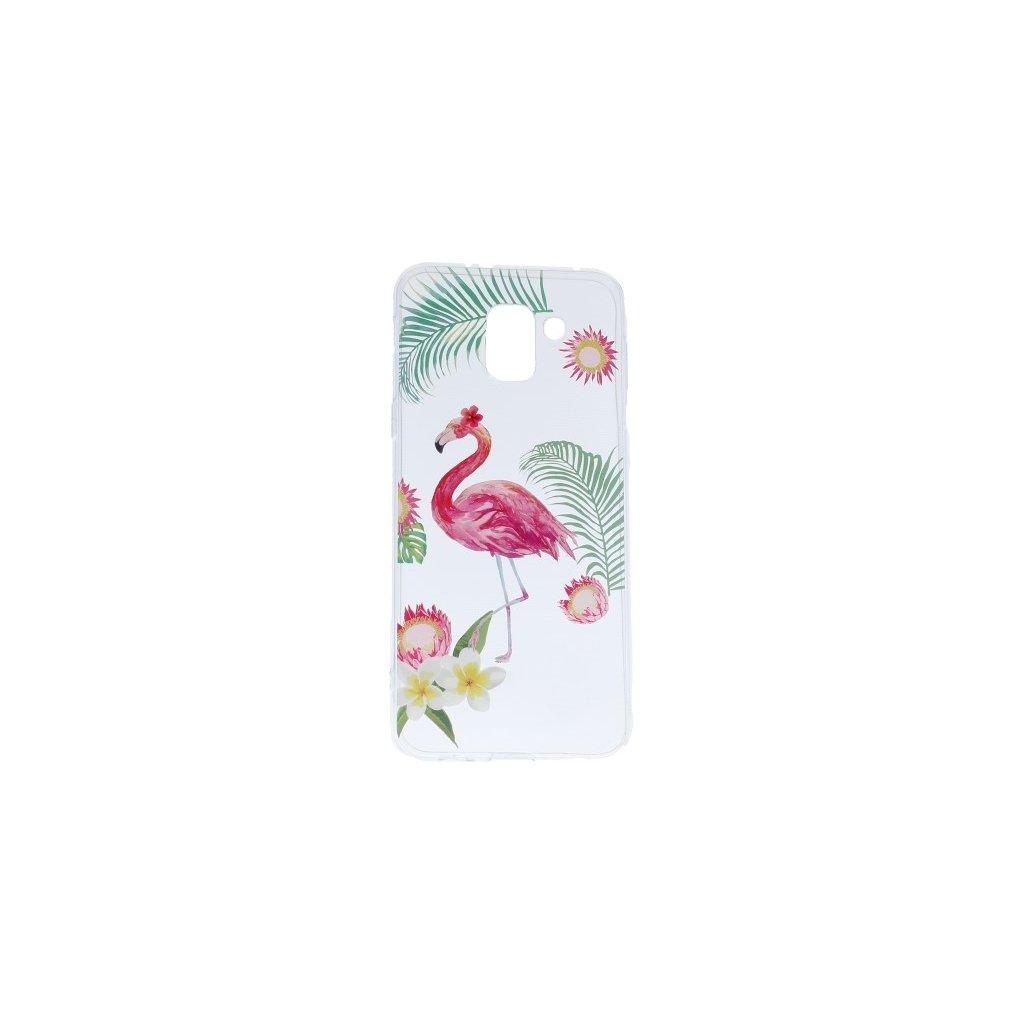 Zadný silikónový kryt na Samsung J6 Summer Flamingo