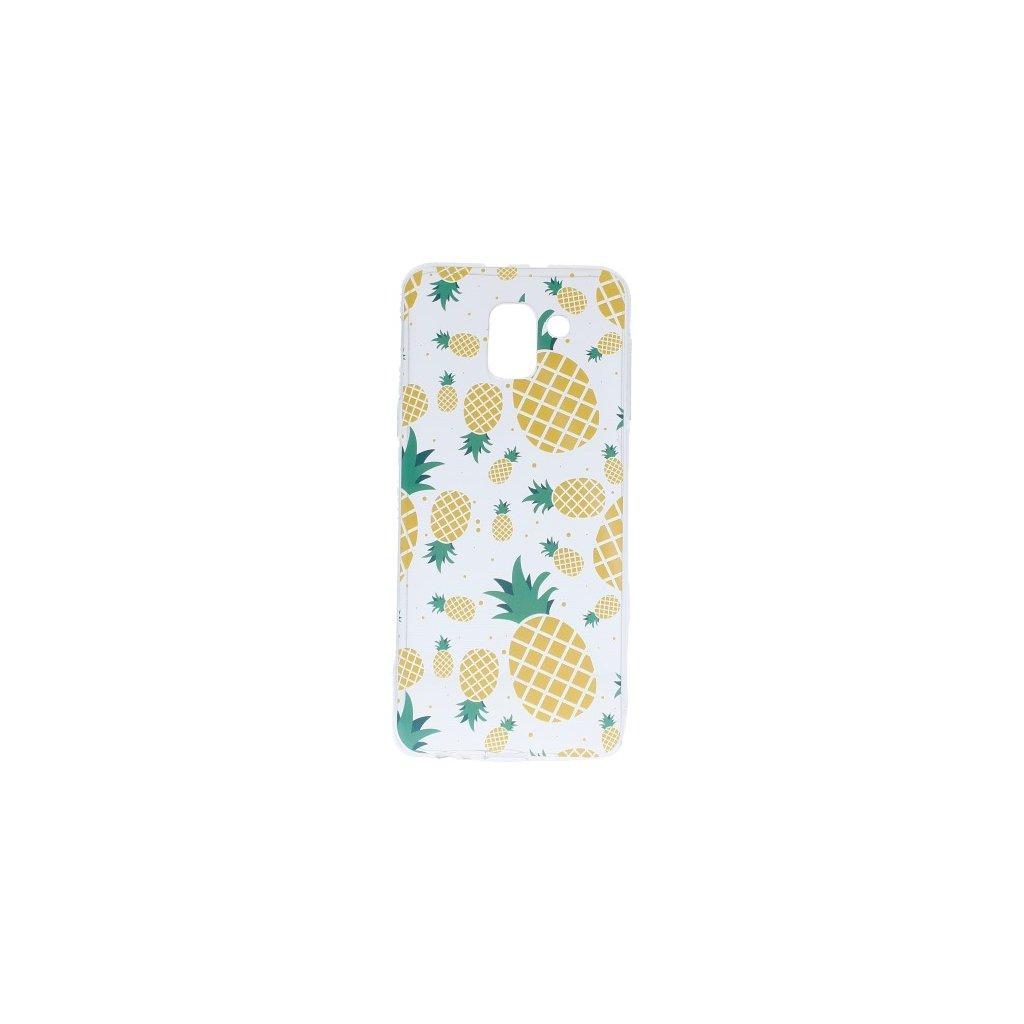 Zadný silikónový kryt na Samsung J6 Summer Pineapple
