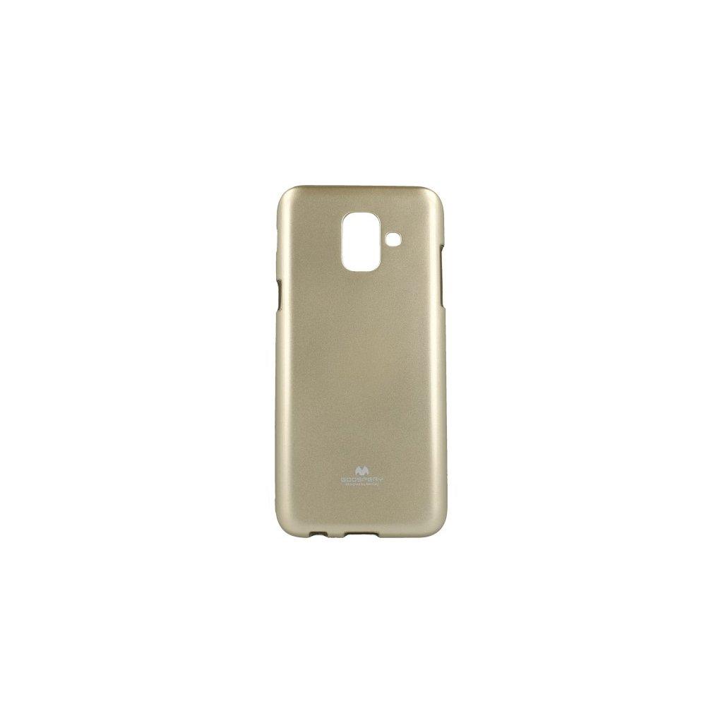 Zadný kryt Mercury Jelly Case na Samsung A6 zlatý