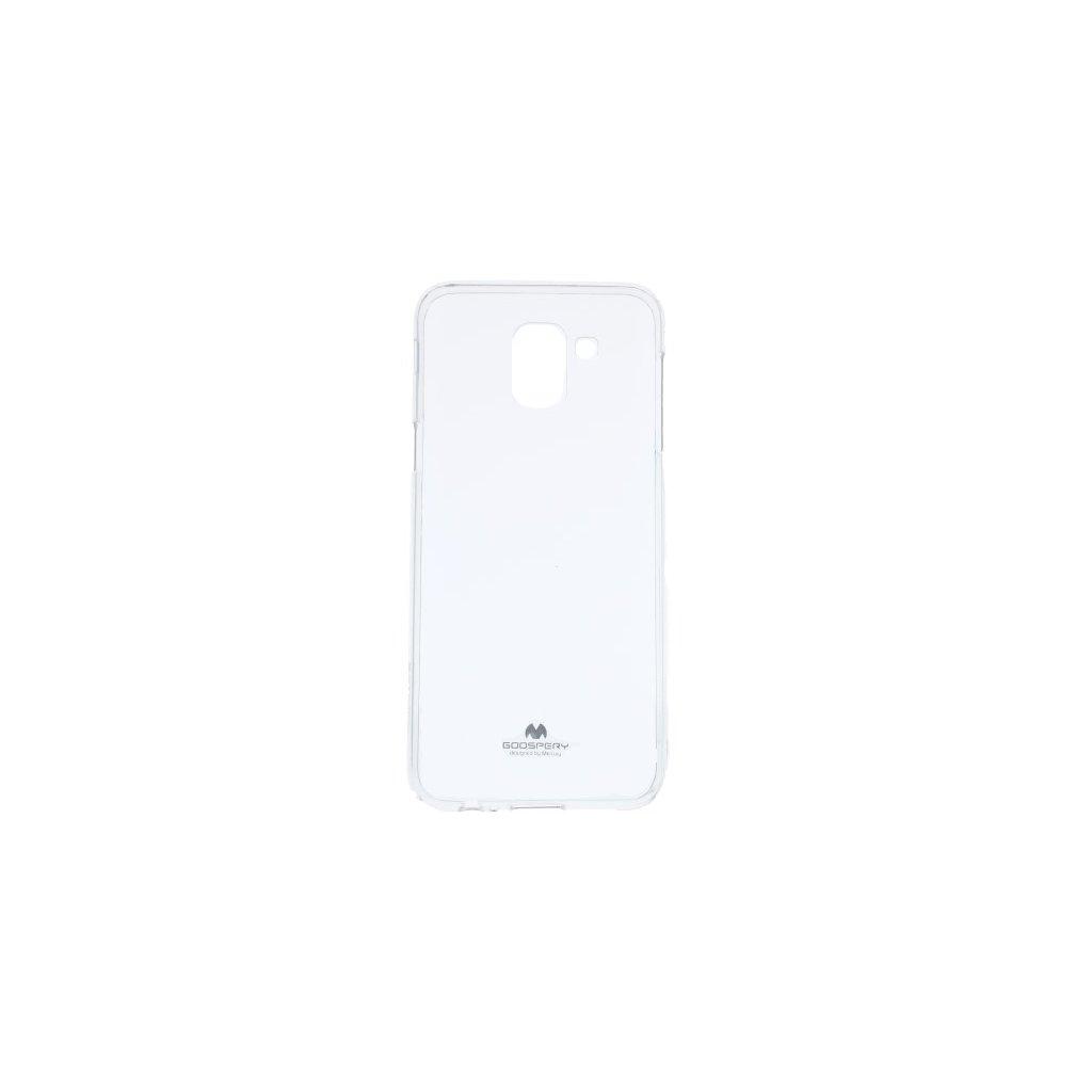 Zadný kryt Mercury Jelly Case na Samsung J6 priehľadný