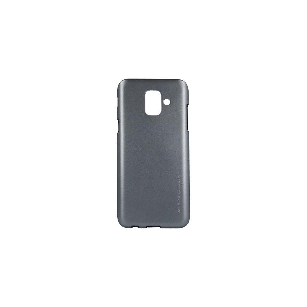 Zadný kryt Mercury iJelly Metal na Samsung A6 šedý