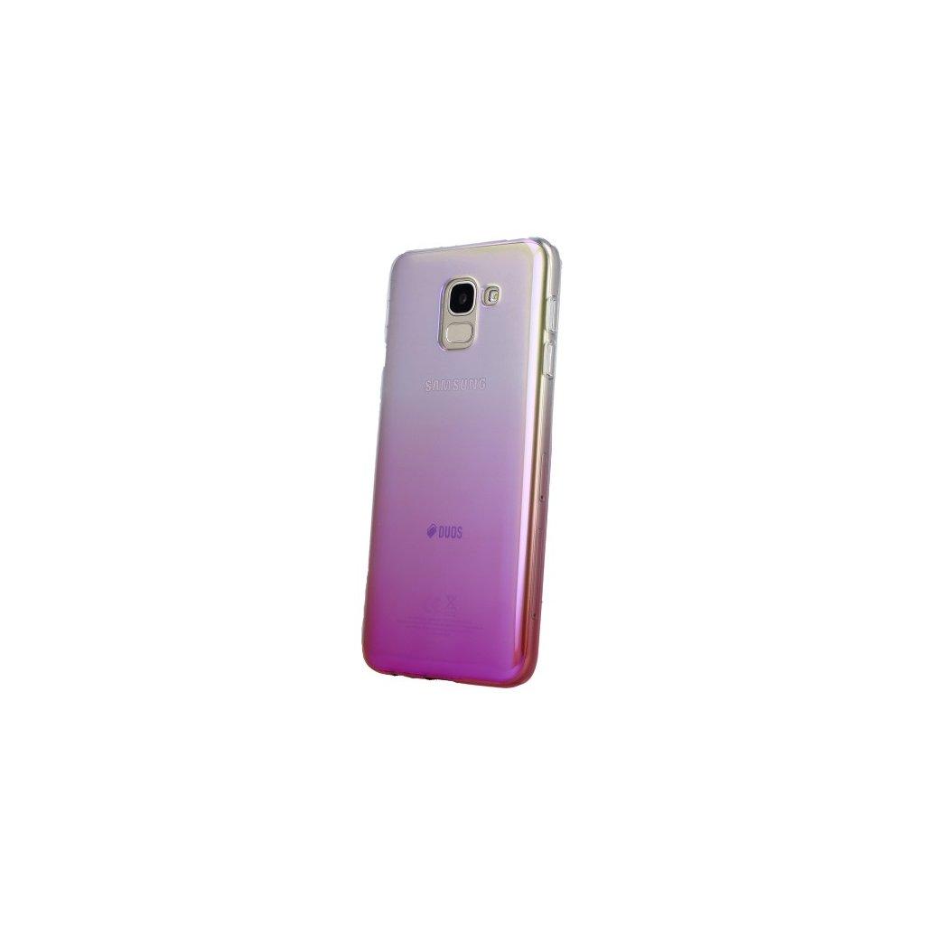 Zadný silikónový kryt na Samsung J6 Ombre Glaze ružový