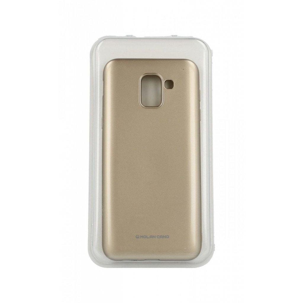Zadný silikónový kryt Molan Cano Jelly na Samsung J6 zlatý