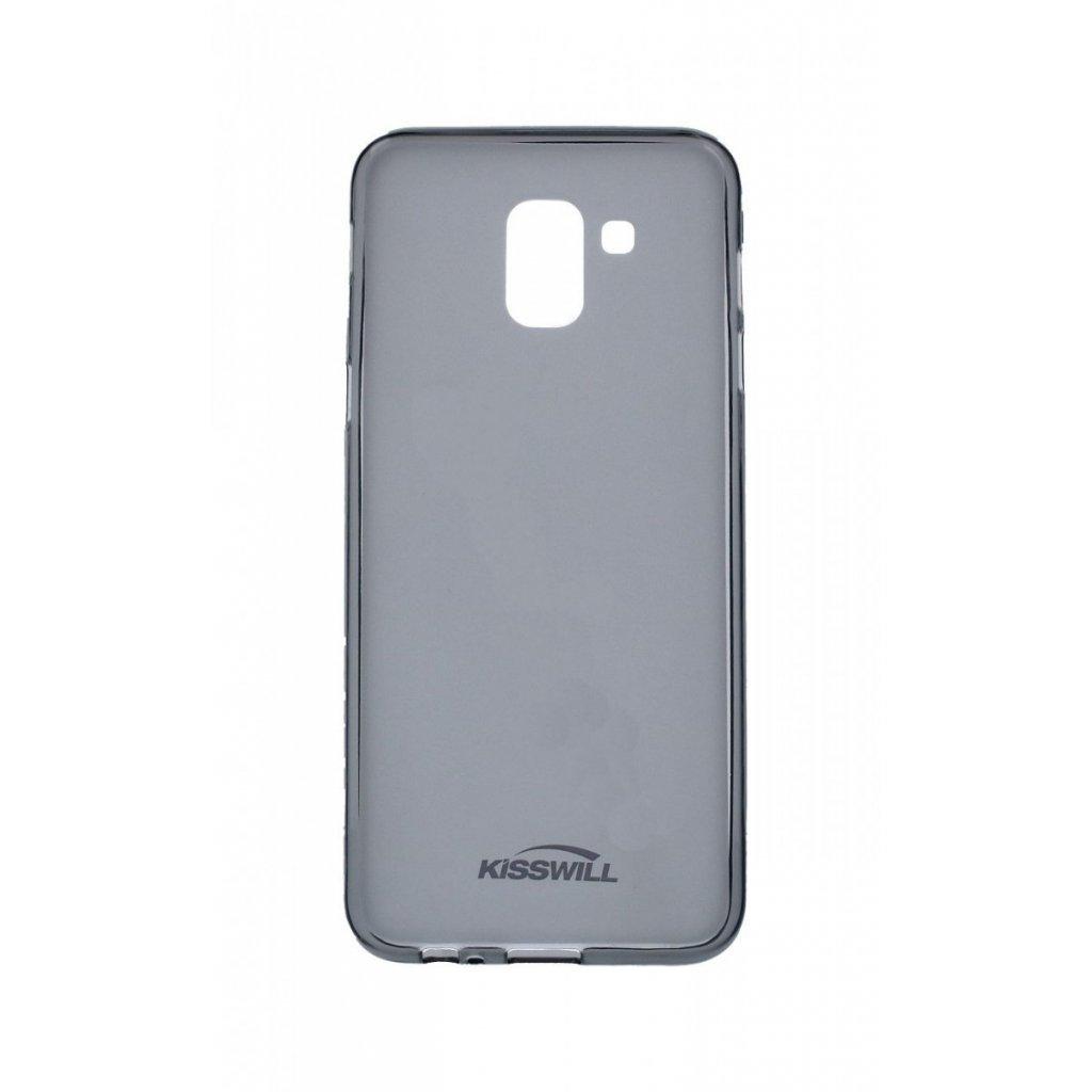 Zadný silikónový kryt Kisswill na Samsung J6 tmavý