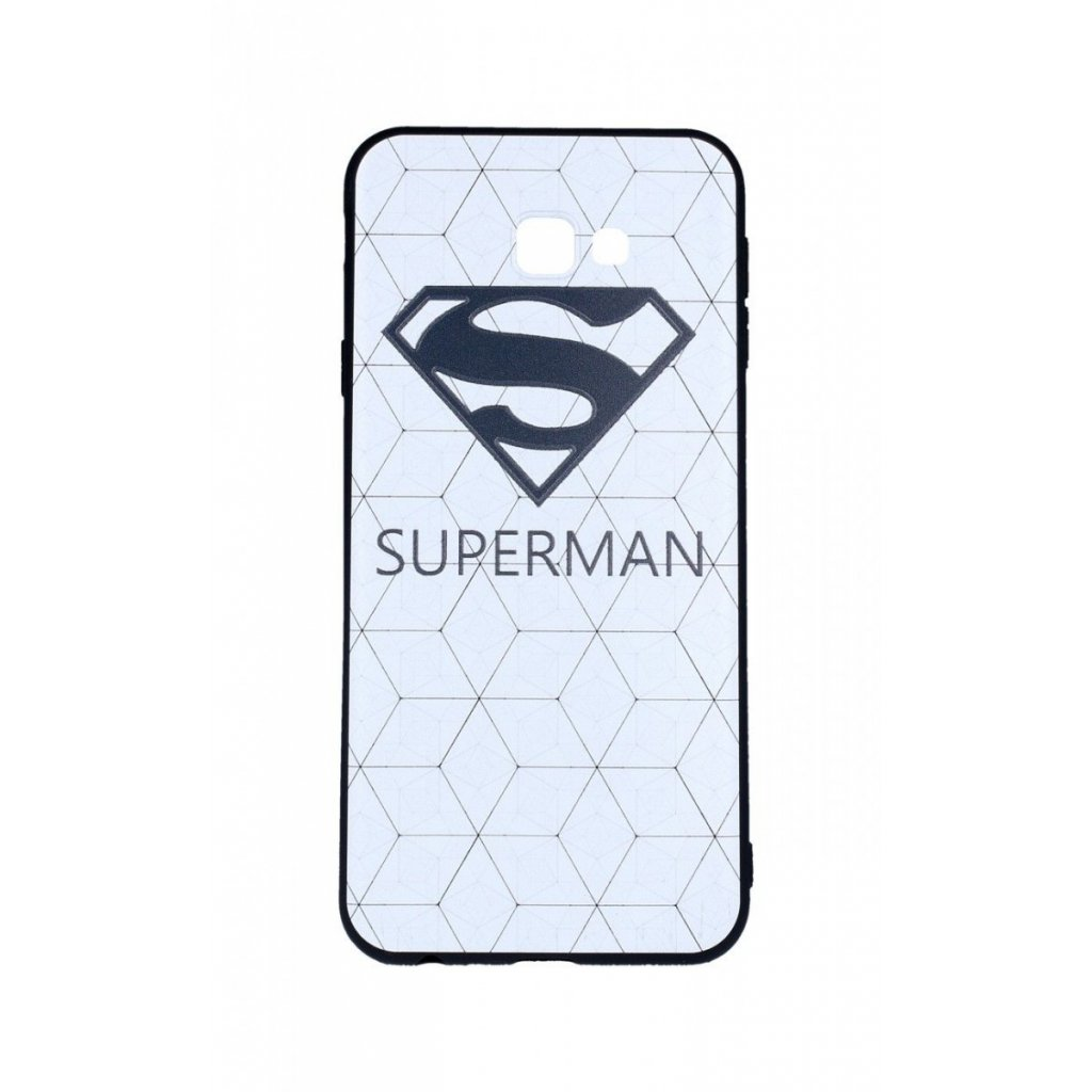 Zadný 3D silikónový kryt na Samsung J4 + Biely Superman