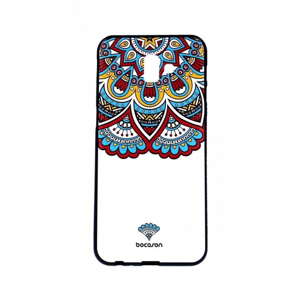 Zadný 3D silikónový kryt na Samsung J6 + Farebný motív
