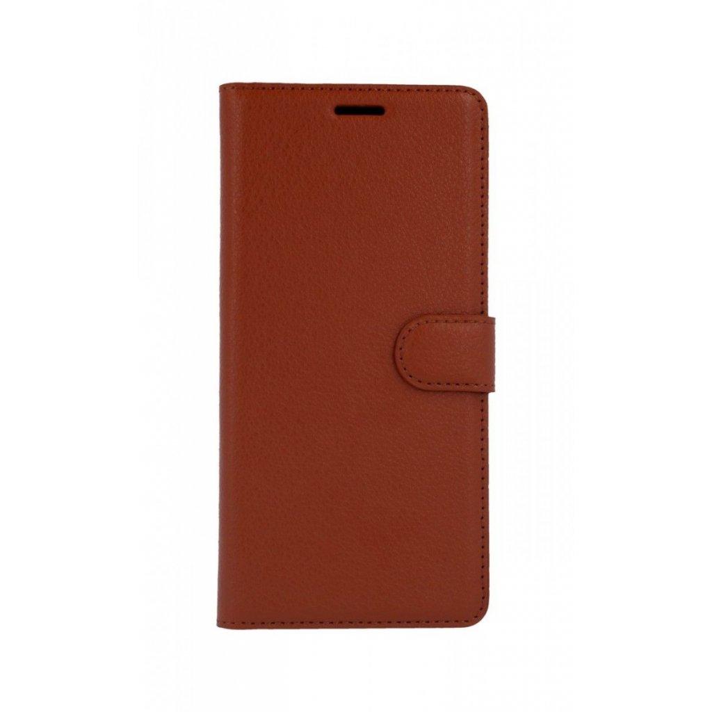 Flipové puzdro na Samsung J4 + hnedé s prackou