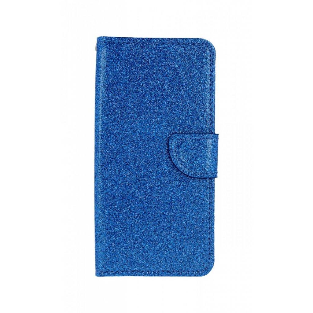 Flipové puzdro na Samsung J6 glitter modré
