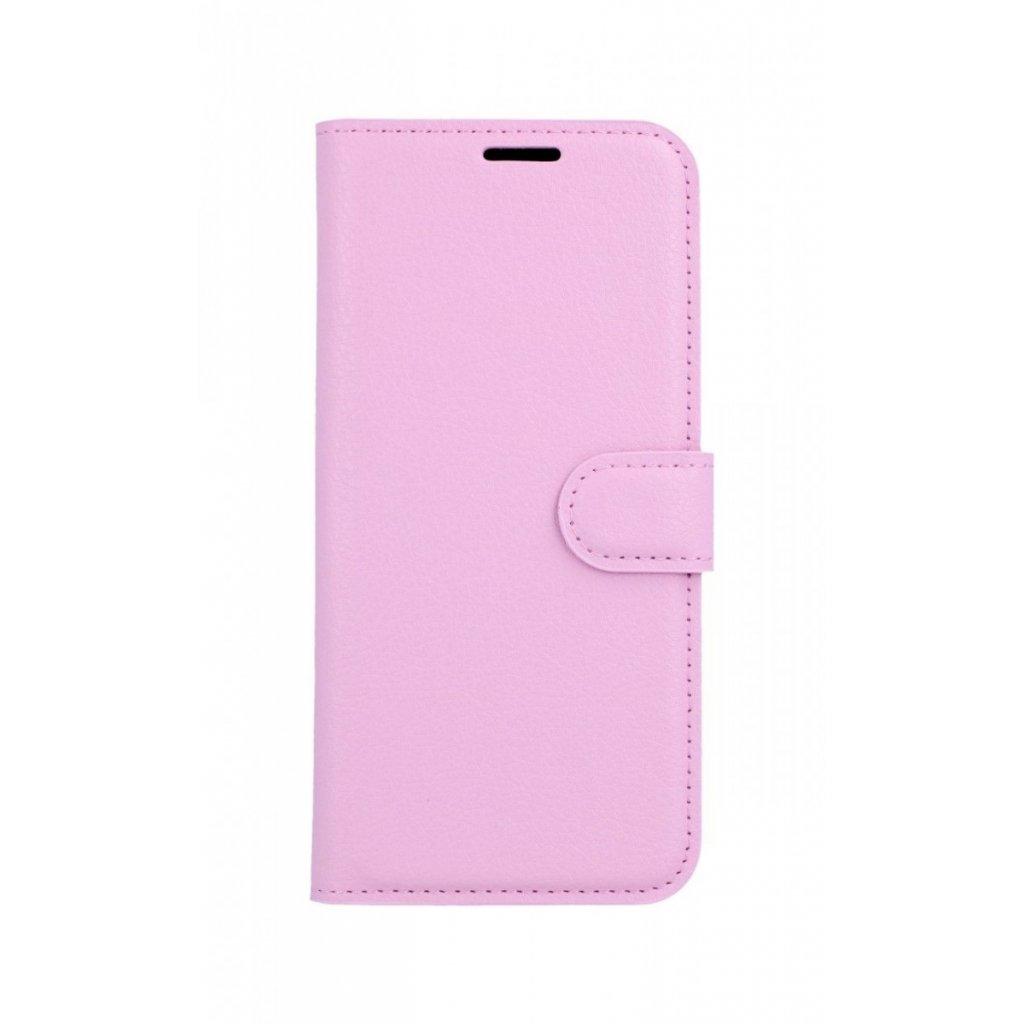 Flipové puzdro na Samsung J6 ružové svetlé s prackou