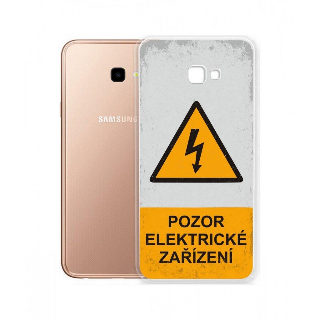 Zadný silikónový kryt na Samsung J4 + Pozor elektrické zariadenie