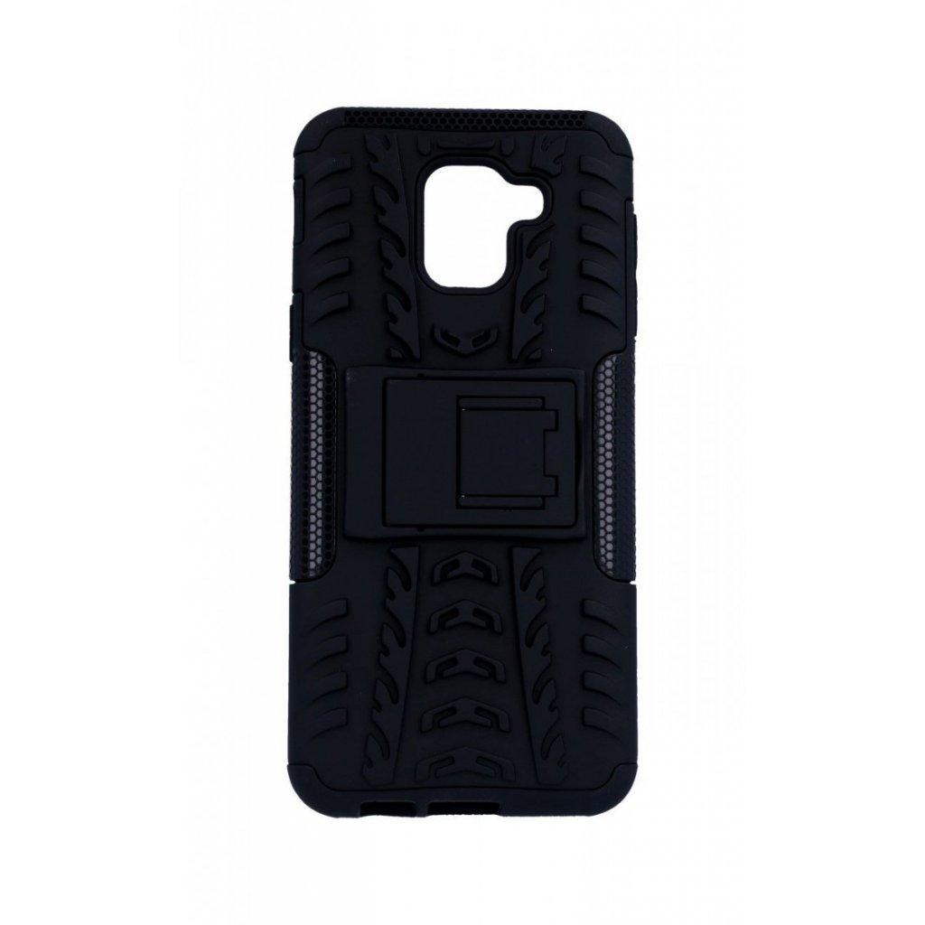 Zadný kryt na Samsung J6 so stojanom čierny