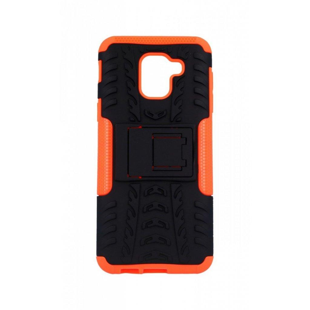 Zadný kryt na Samsung J6 so stojanom oranžový