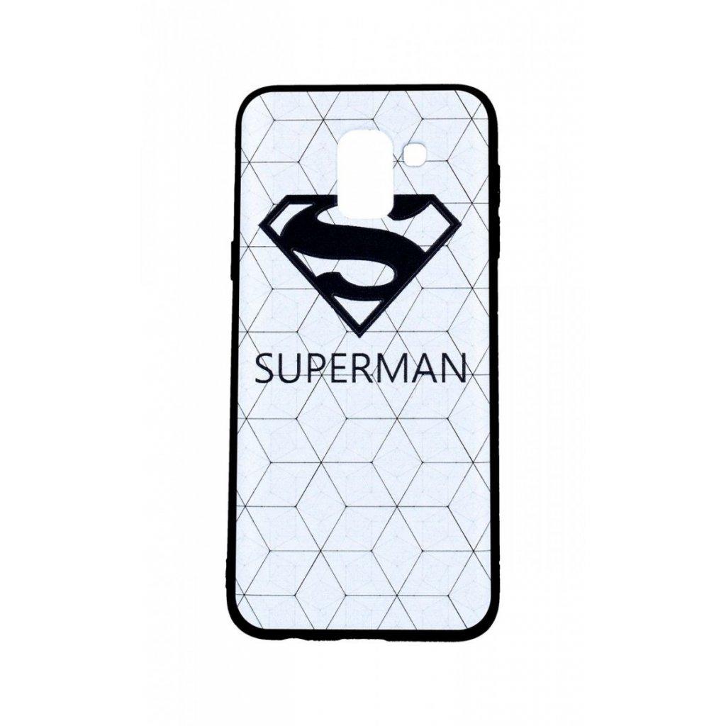 Zadný 3D silikónový kryt na Samsung J6 Biely Superman
