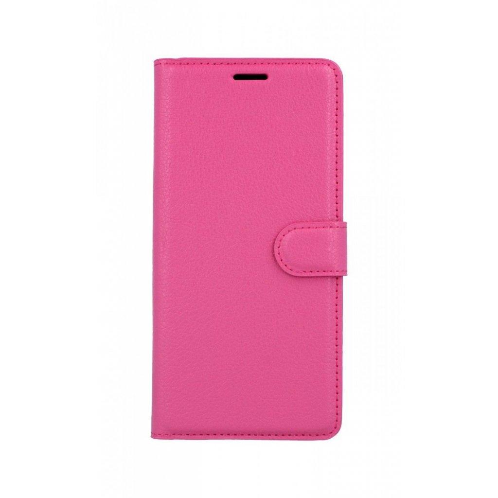 Flipové puzdro na Samsung J6 + ružové tmavé s prackou