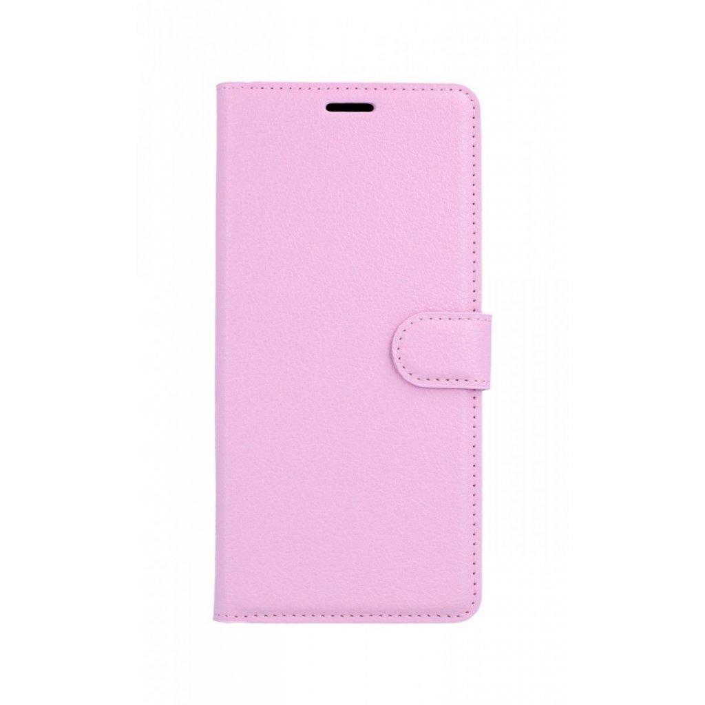 Flipové puzdro na Samsung J6 + ružové svetlé s prackou