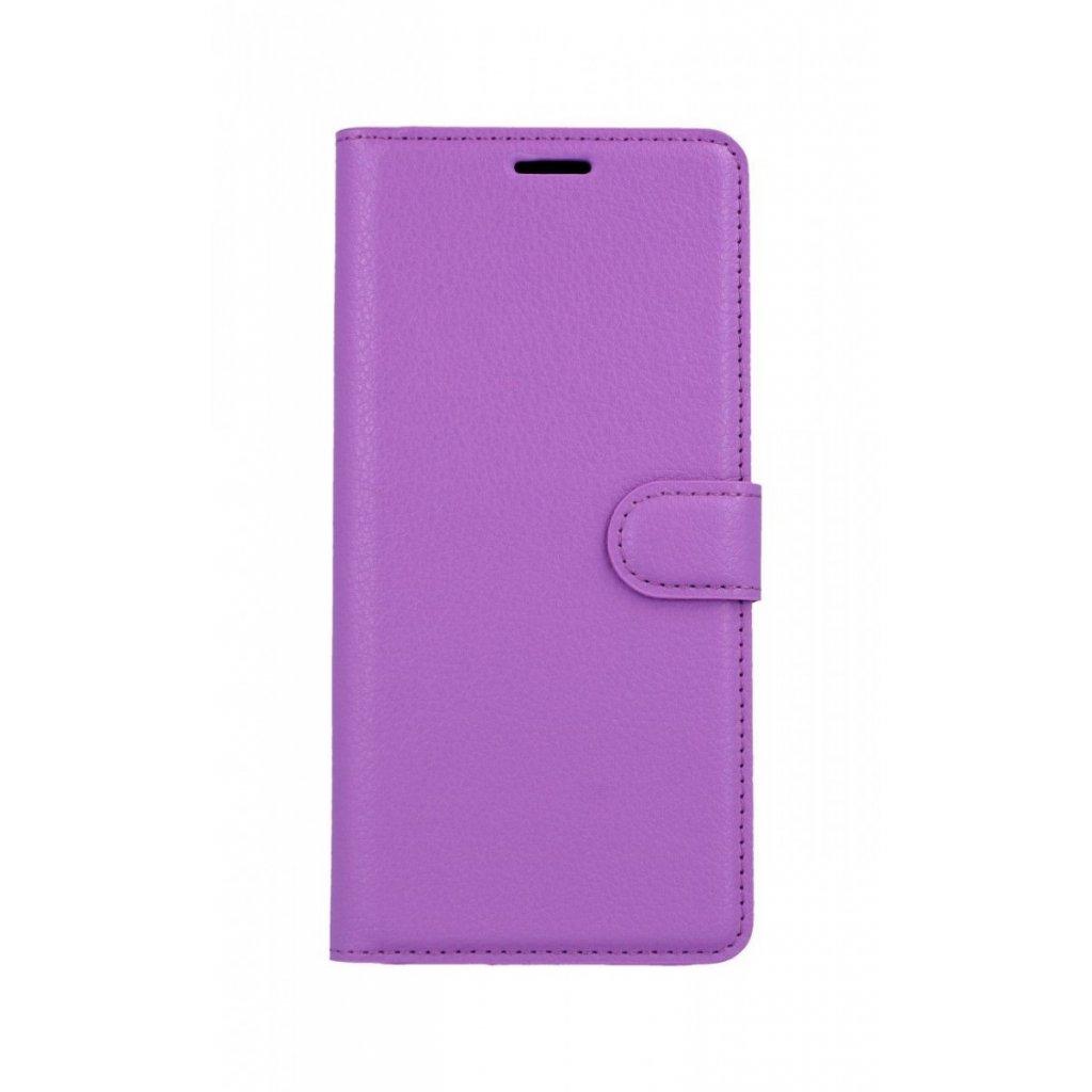 Flipové puzdro na Samsung J6 + fialové s prackou