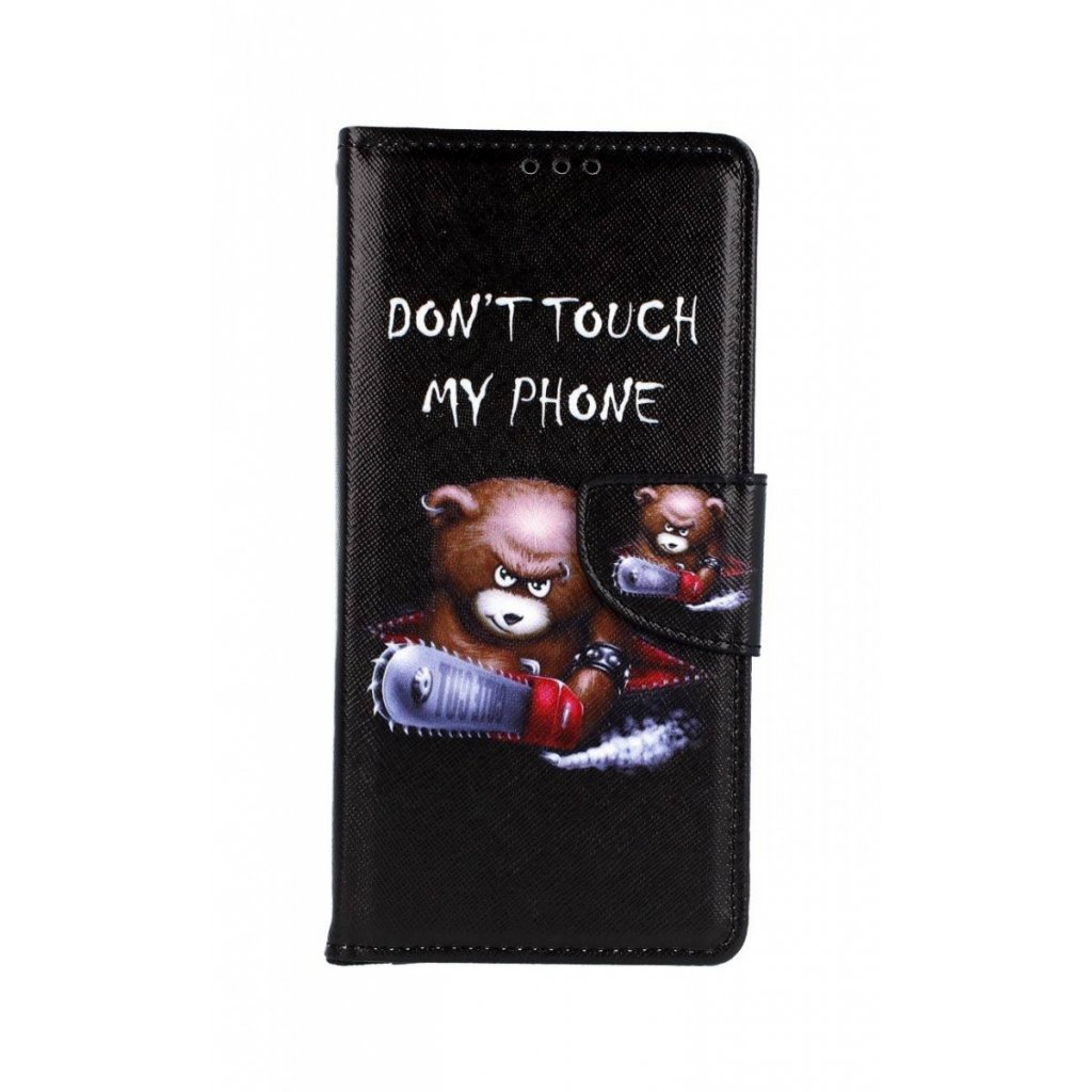 Flipové puzdro na Samsung J4 + Dont Touch macko