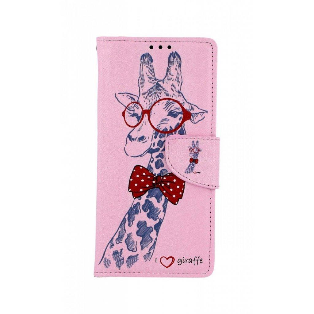 Flipové puzdro na Samsung J4 + Žirafa