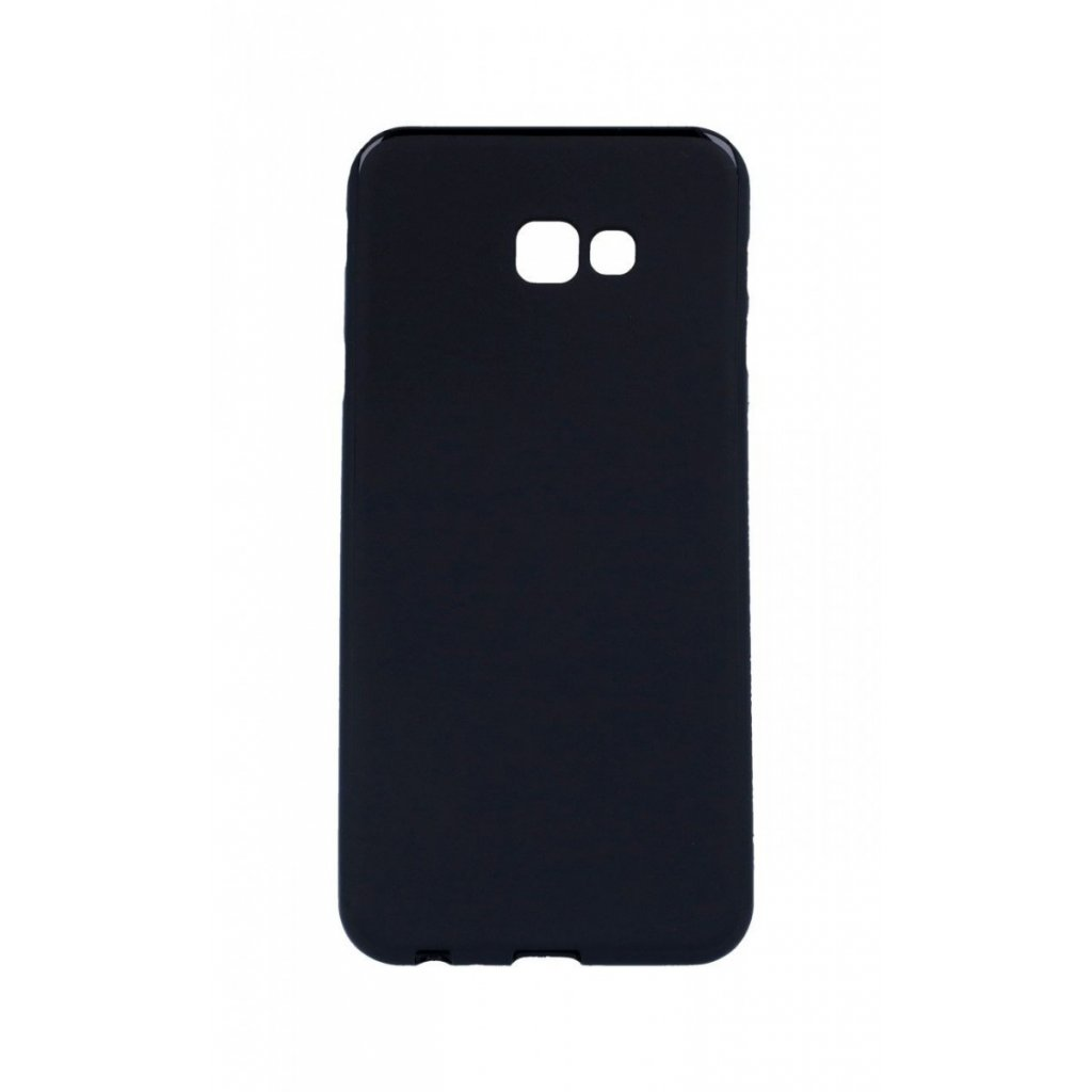 Zadný silikónový kryt na Samsung J4 + čierny matný
