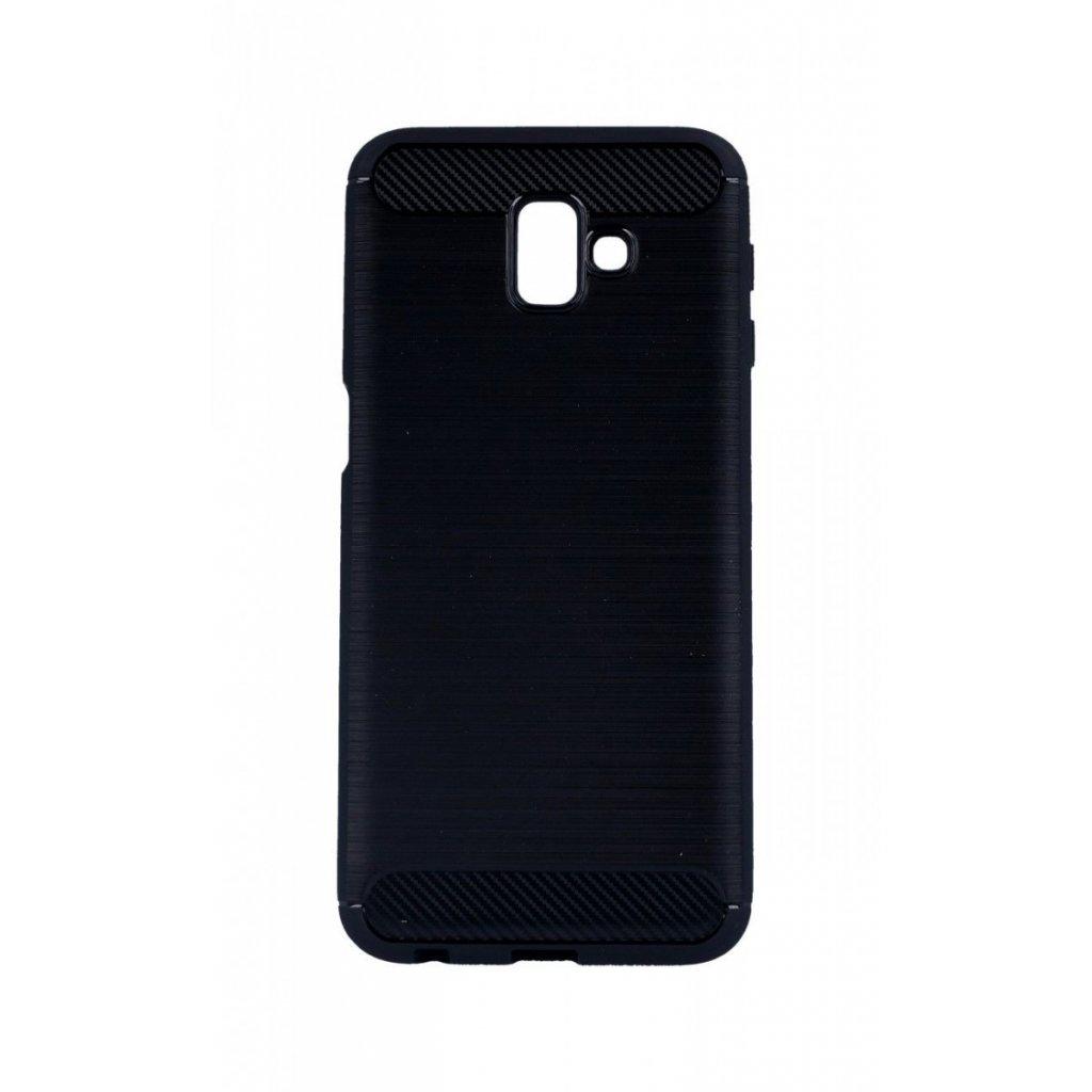 Zadný silikónový kryt na Samsung J6 + čierny