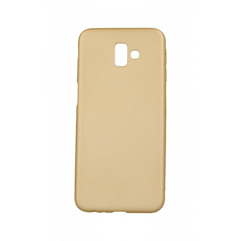 Zadný silikónový kryt na Samsung J6 + soft zlatý