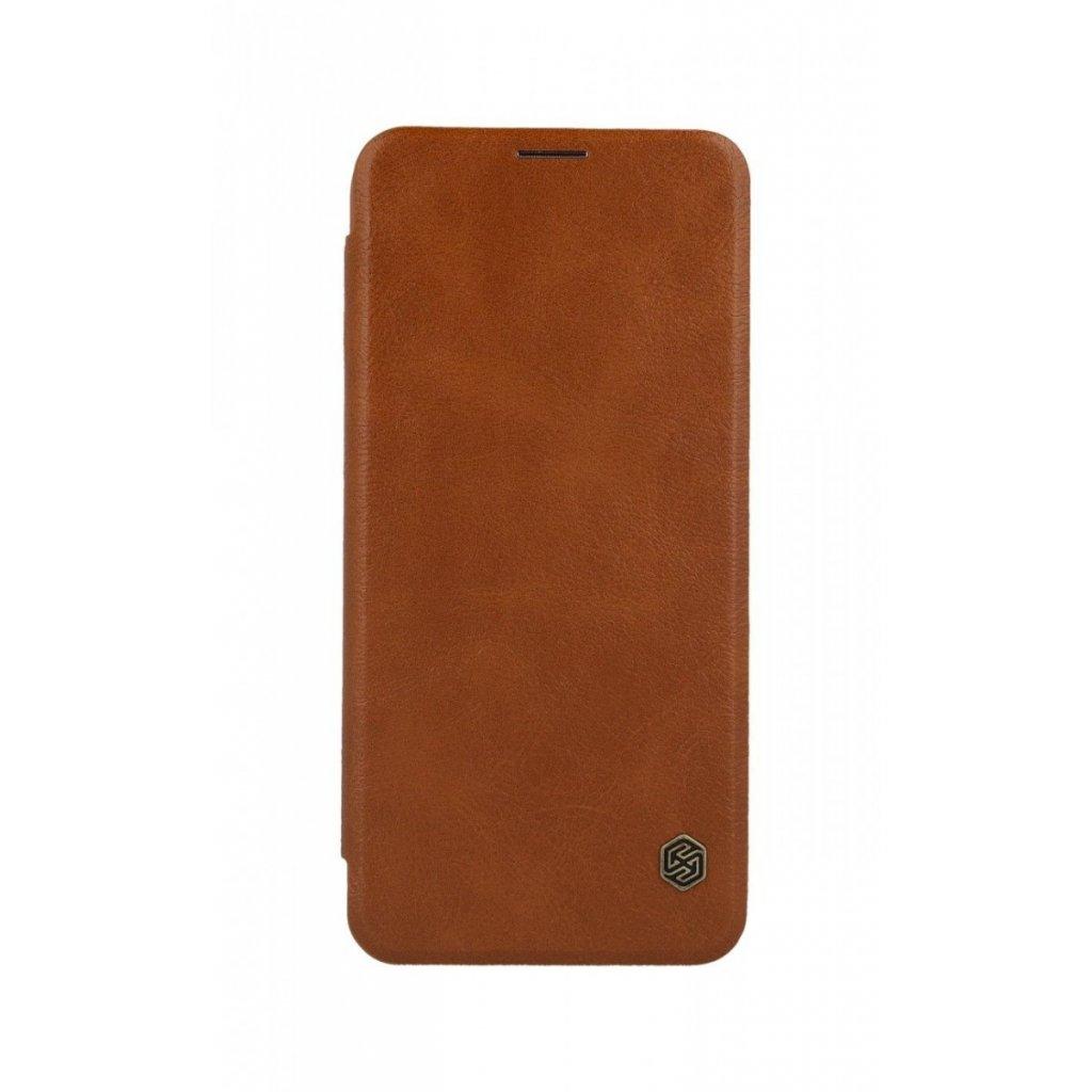 Flipové puzdro Nillkin Qin na Samsung J6 + kožené hnedé