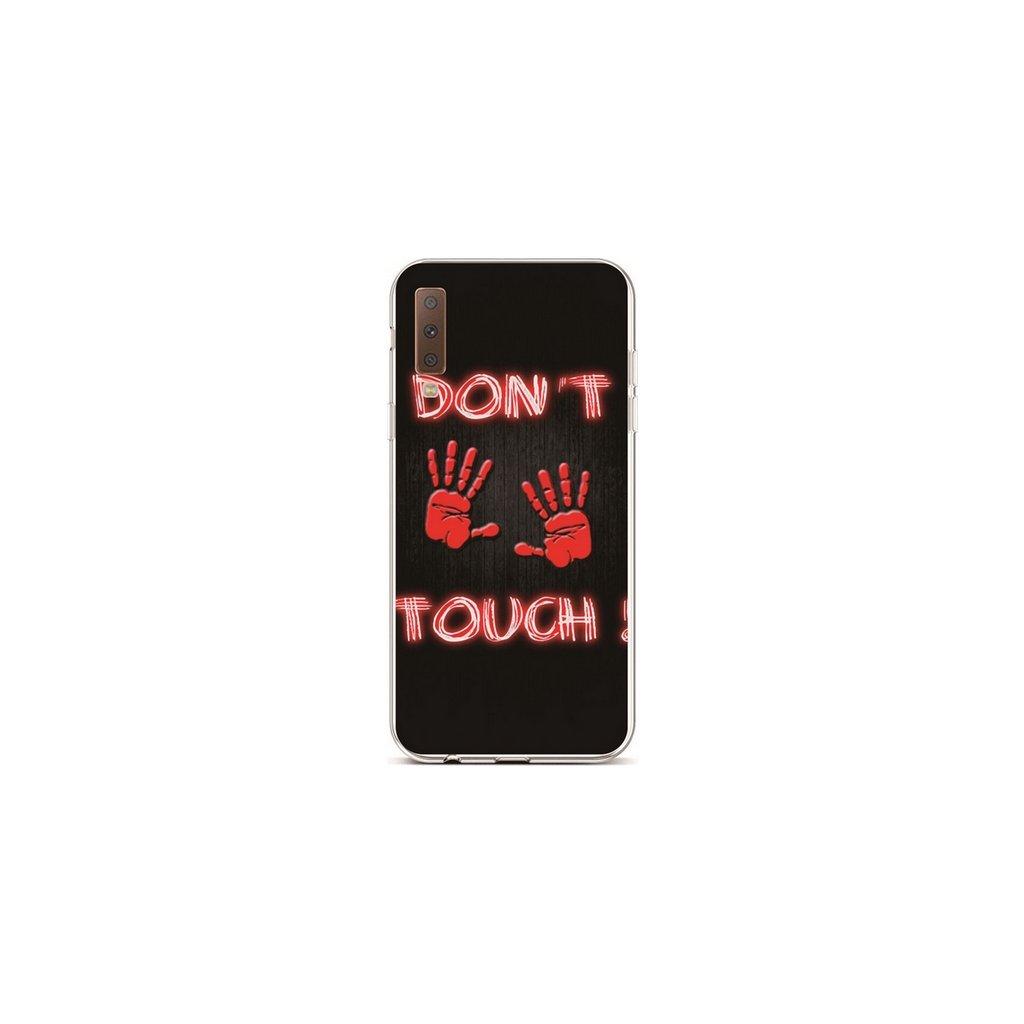 Zadný silikónový kryt na Samsung A7 Dont Touch Red