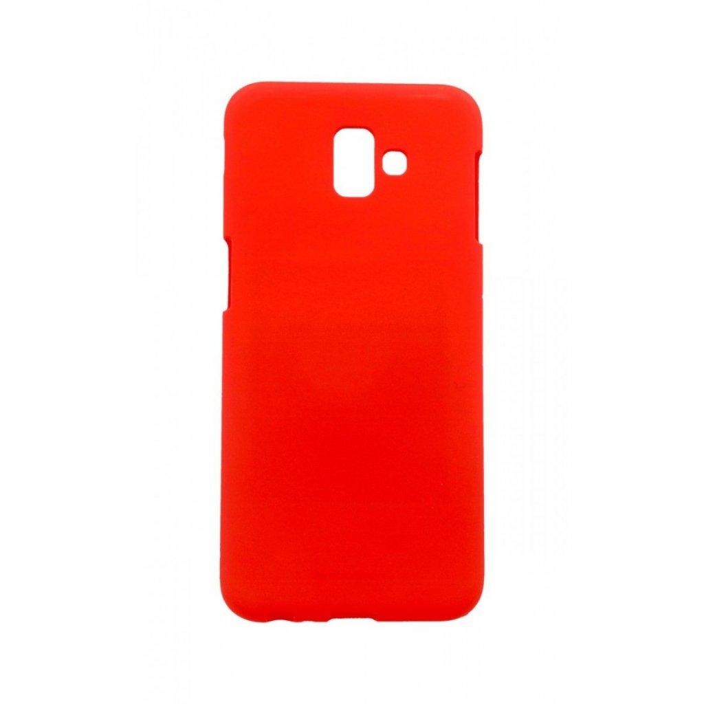Zadný silikónový kryt Mercury Soft Case na Samsung J6 + červený