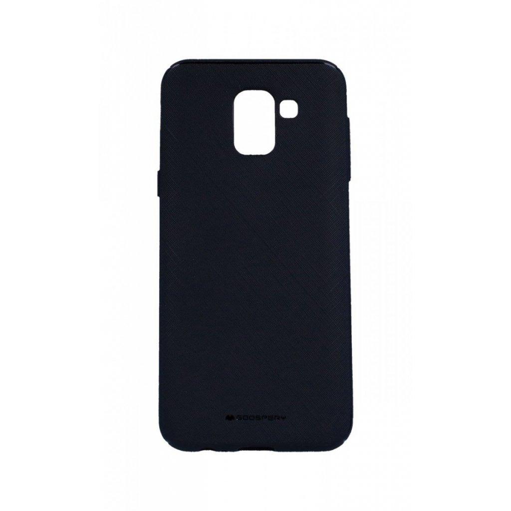 Zadný kryt Mercury Style Lux na Samsung J6 čierny