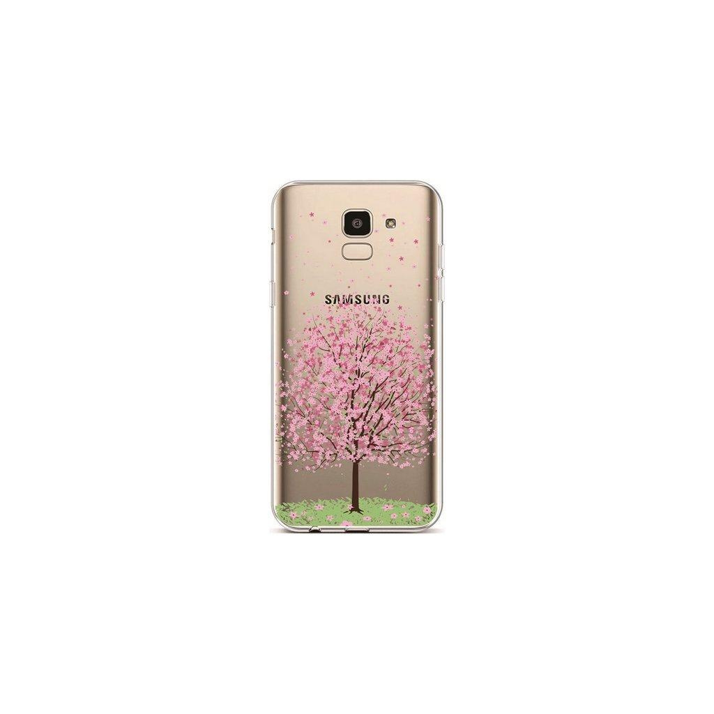 Zadný silikónový kryt na Samsung J6 Blossom Tree