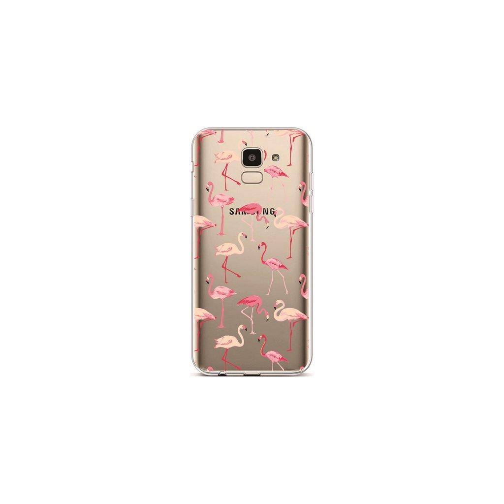 Zadný silikónový kryt na Samsung J6 Flamingos