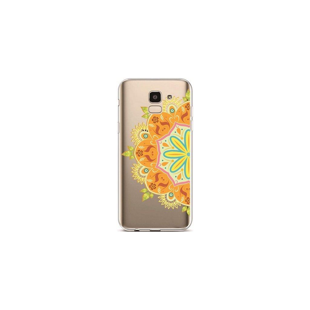 Zadný silikónový kryt na Samsung J6 Orange Mandala