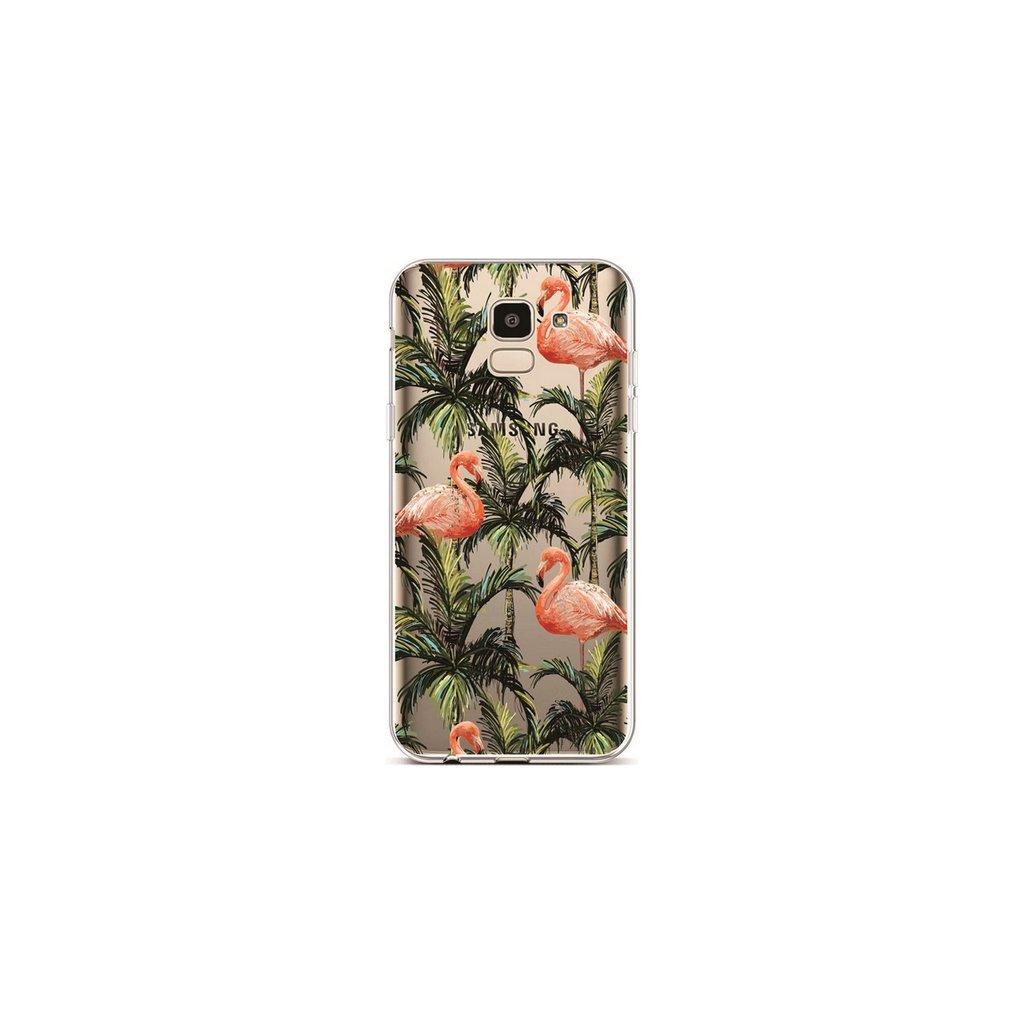 Zadný silikónový kryt na Samsung J6 Tropical Flamingo