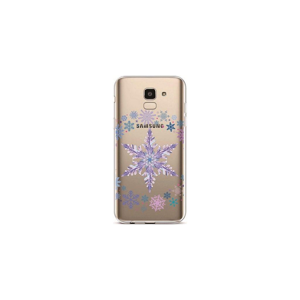 Zadný silikónový kryt na Samsung J6 Snowflake