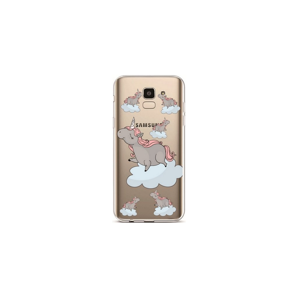 Zadný silikónový kryt na Samsung J6 Grey Unicorns
