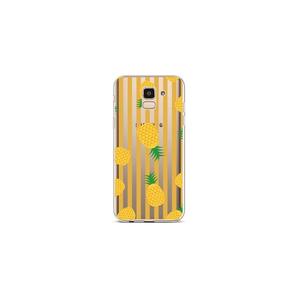 Zadný silikónový kryt na Samsung J6 Pineapples