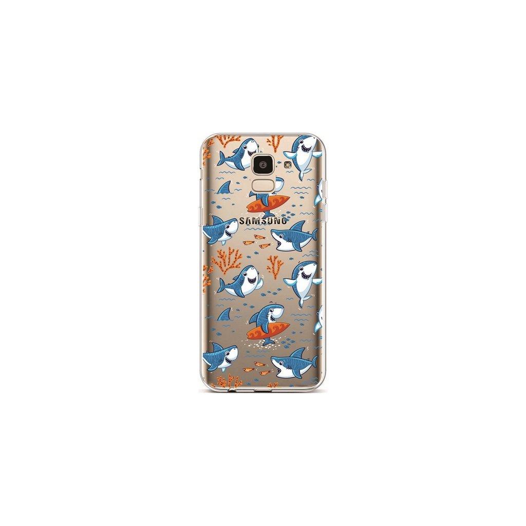 Zadný silikónový kryt na Samsung J6 Sharks