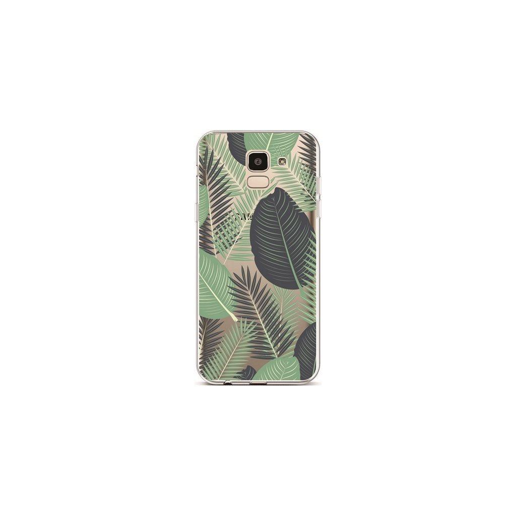 Zadný silikónový kryt na Samsung J6 Palm Leaves