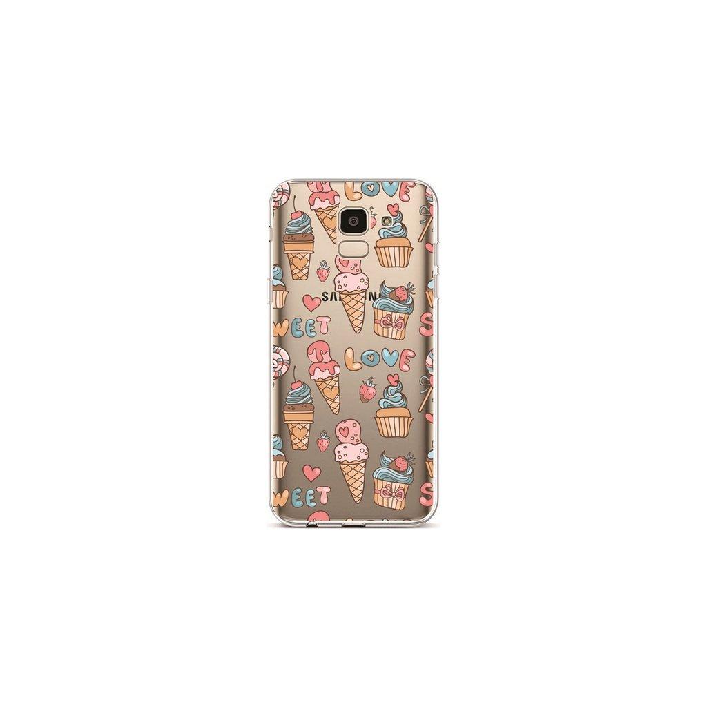 Zadný silikónový kryt na Samsung J6 Sweet Love
