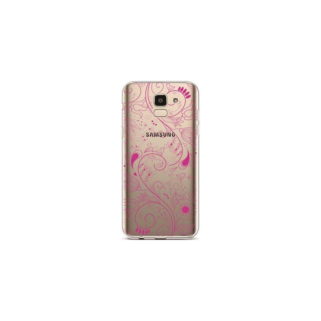 Zadný silikónový kryt na Samsung J6 Pink Ornament