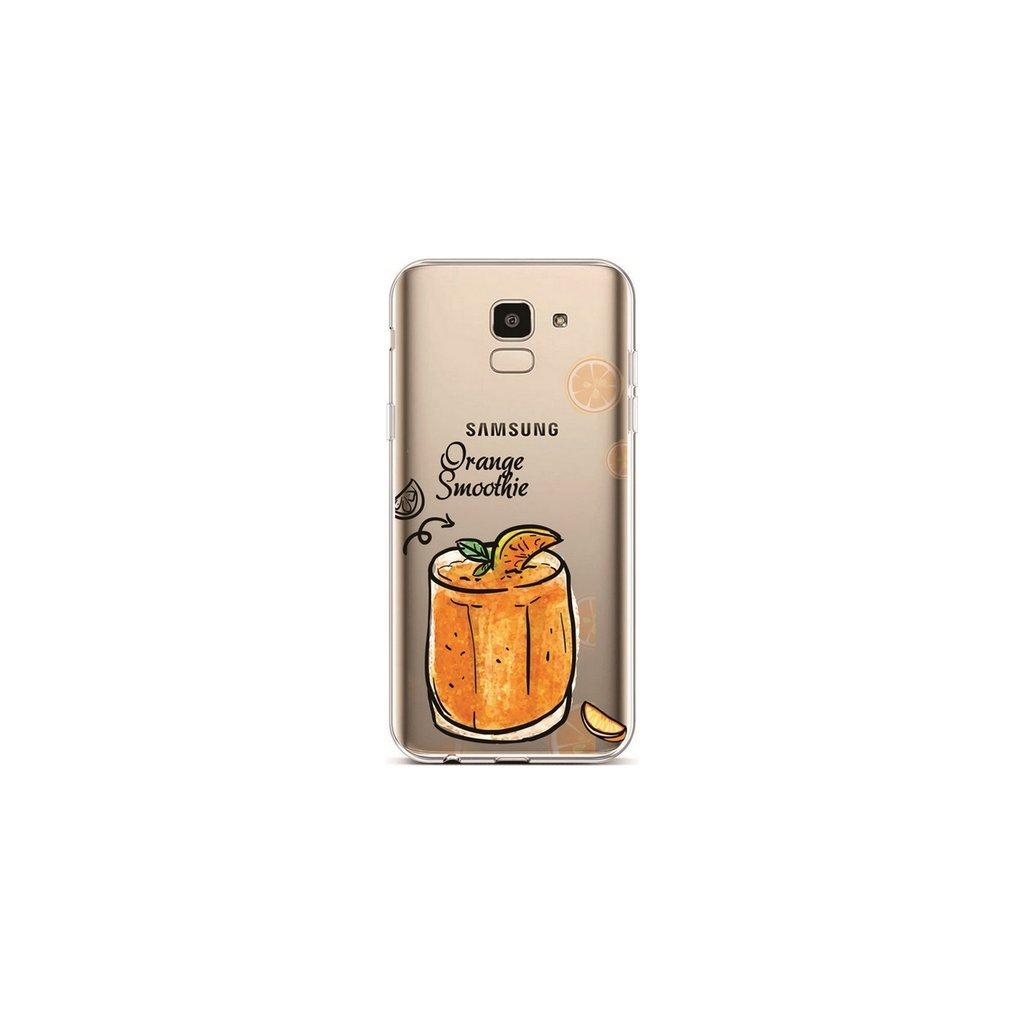 Zadný silikónový kryt na Samsung J6 Orange Smoothie