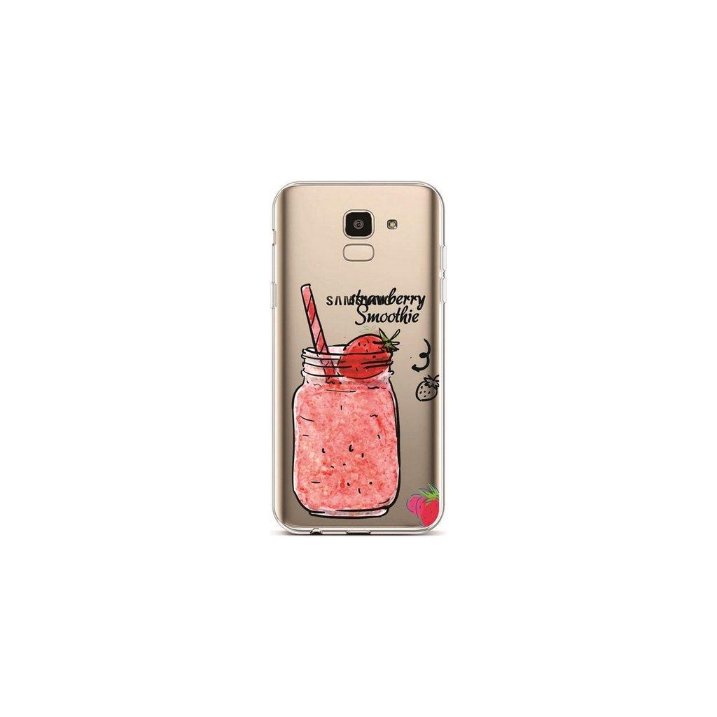 Zadný silikónový kryt na Samsung J6 Strawberry Smoothie