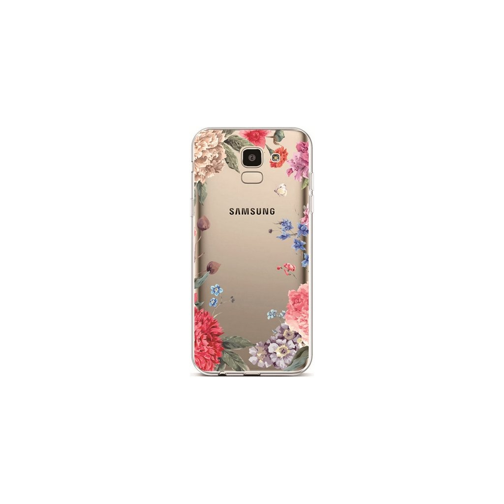 Zadný silikónový kryt na Samsung J6 Lúčne Kvety