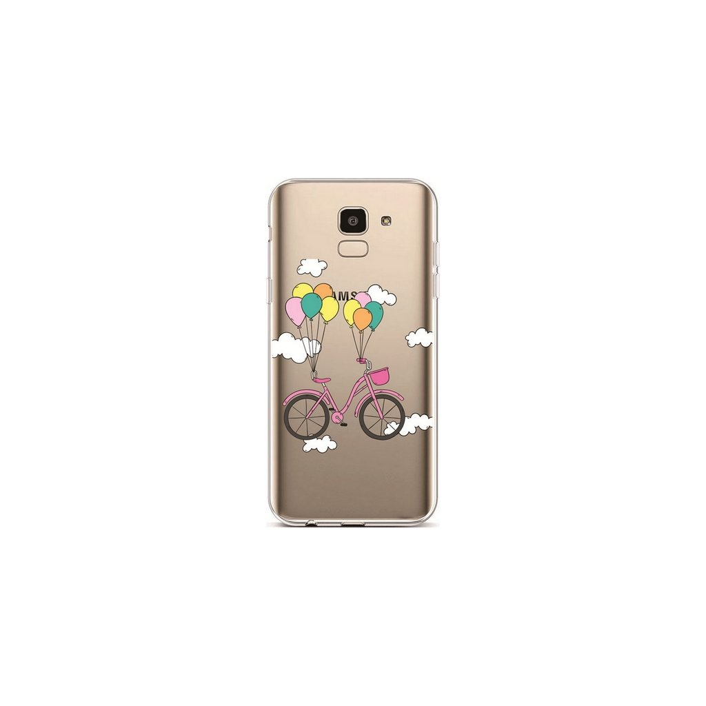 Zadný silikónový kryt na Samsung J6 Pink Bike