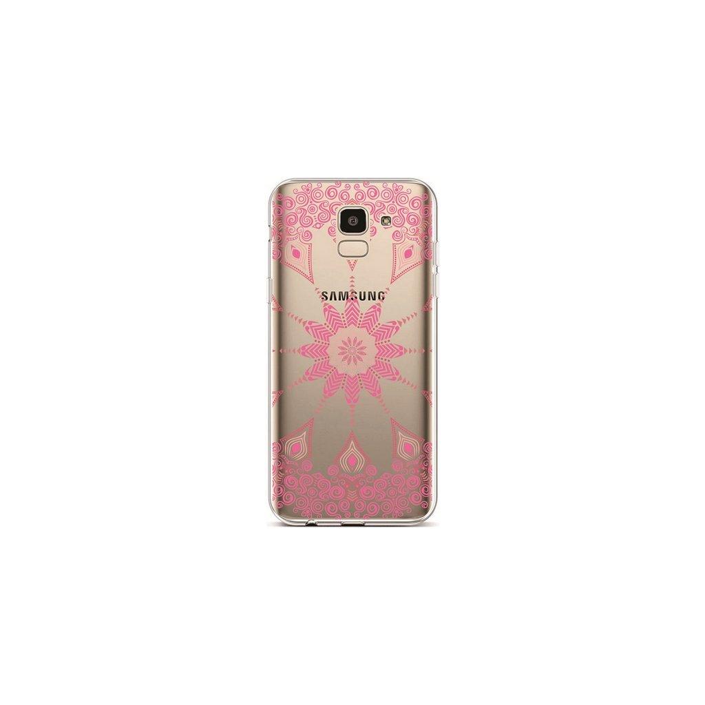 Zadný silikónový kryt na Samsung J6 Pink Mandala